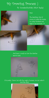 My Drawing Process by killALLthezombies
