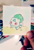 Little Bulbasaur: Watercolor #1 by AddyinWonderland