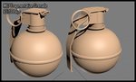 3DS WIP - Frag Grenade by Hiroplex