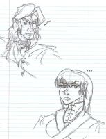 Rob and Lyn Sketches by SirChristopher