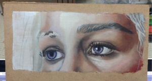 Eyes of the Khaleesi WIP Oil painting by chaffyy