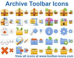 Archive Toolbar Icons by Ikont