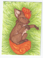 ACEO: Vulpix (Sold) by Kiocah