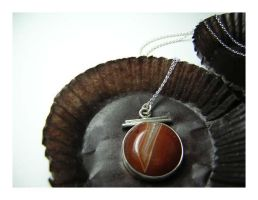 agate pendant -sold by 925-STUDIO