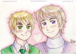 [APH][RusEng] England and Russia by Margo-sama