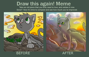 Before and After Epic Sunrise Cat by Origamigirl1223