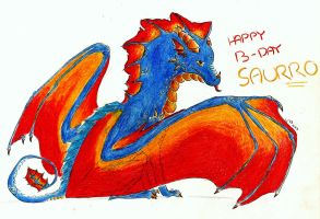 Happy B-day, Saurrrrrrro! by 8Ryuu8