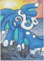 ATC: Fakemon Water Type : Duophint by drake22ice