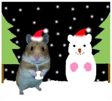 Chiko's christmas greeting by Yushi