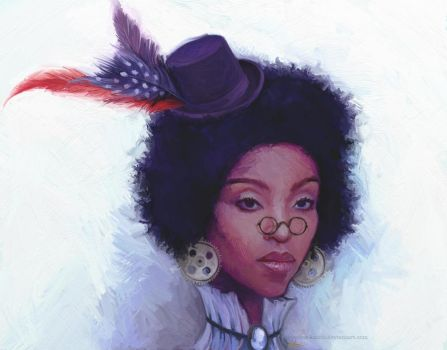 Afro Steampunk by sleepless-katith
