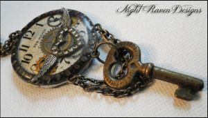 New Haven Steampunk Pendant by HouseOfAlletz