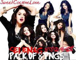 Selena Gomez Pack of 8 PNGS by SweetCocaineLove