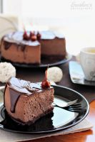 Chocolate cheesecake by kupenska