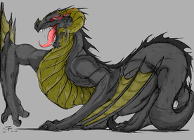 Dark Wyvern by GRAVEMIND1110