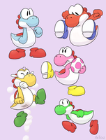 Yoshis by YellowHellion