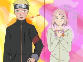 Happy Valentine's Day from Naruto and Sakura by YunaDmitrieva