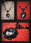 """Gothic Roses"" Necklace by 13thpsyche"