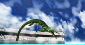MMD Newcomer Mosasaur + DL by Valforwing