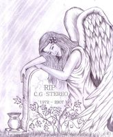 angel grave engraved by Shadow3217