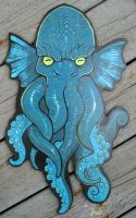 Cthulhu wood painting B by missmonster