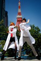 Steins Gate -Mad scientists! by diacita