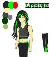 Lithium Human Ref Sheet by DraconaVampira