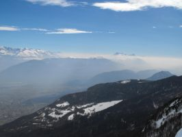 Massif Of Vercors and Alps Mountains 2 by A1Z2E3R