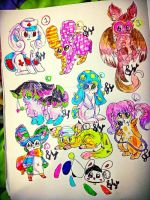 Crazy Art Bunny Point Adopts DISCOUNTED by grimoireadopts