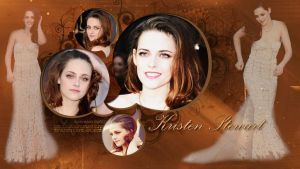 Wallpaper Kristen Stewart Golden by RoohEditions
