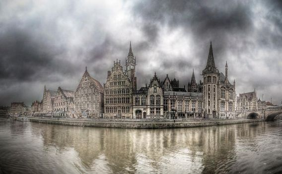 old city of ghent by phoelixde