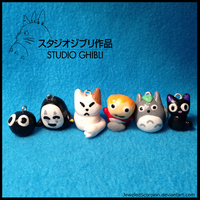 Studio Ghibli Charms by JeweledScorpion