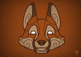 Fox mask by Adele-Waldrom