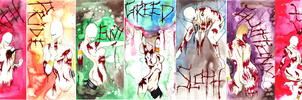 The 3D Seven Undead Sins by RoseScentedCorpse