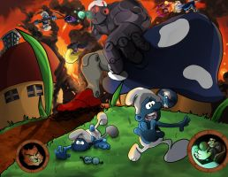 Smurf Destruction Complete by BlackGambitX