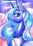 Princess Luna - Watercolor by BellaCielo