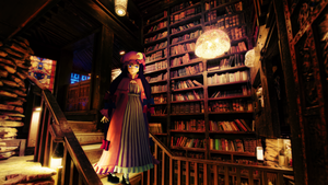 In the library by RiStarr