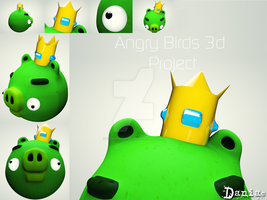 AngryBirds 3d Project the King by daniacdesign