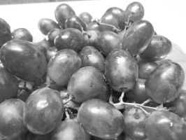 Black and White Grapes by Child-of-Minerva