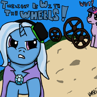 TriXiePie Vs. Twilight and the Wheels by Norse98