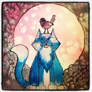 Moon Cat by trossidevil