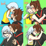 Four Kisses Meme: TerraxRiku by fantacination