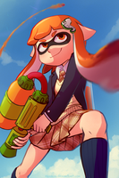 School Girl Inkling by TheTuchi