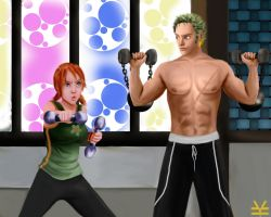 OP : Zoro and Nami's training by Joouheika