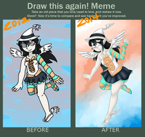 Draw This Again Meme - AngelClaw by SalemTheCat23