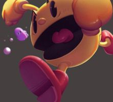 One face a day #72/365. Pac-man by Dylean