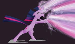Twilight Sparkle HyperBeam by Titanrising01
