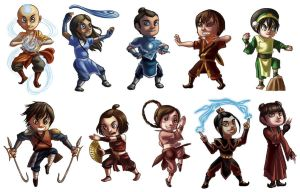 Avatar Chibis by thecommanders