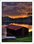 Boathouse at Sunset HDR by courey