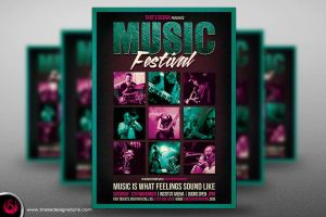 Music Festival Flyer Template V4 by Thats-Design
