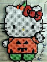Pumpkin Hello Kitty by PerlerPixie